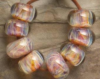 MAGICAL WAVE Boro Lampwork beads 8