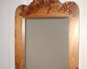 mirror, rose carved mirror