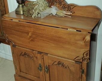 desk, drop leaf desk, entry desk