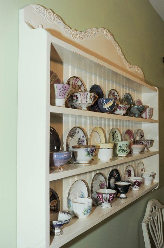 tea cup shelf, collectors edition