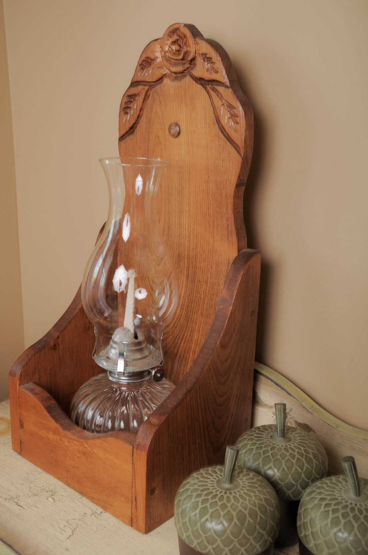 Oil lamp holder for Wooden kerosene lamp holder