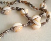 Seashell Necklace,Vintage Shell Necklace long necklace Beach Jewelry