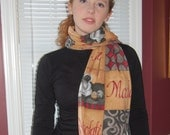 Coffee Moka Cafe Latte Brown Print Fleece Scarf