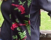 Cardinal Tree Black Fleece Scarf