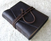 Rustic Leather Journal, Midnight Blue/Navy, handmade journal by Dancing Grey Studio on Etsy
