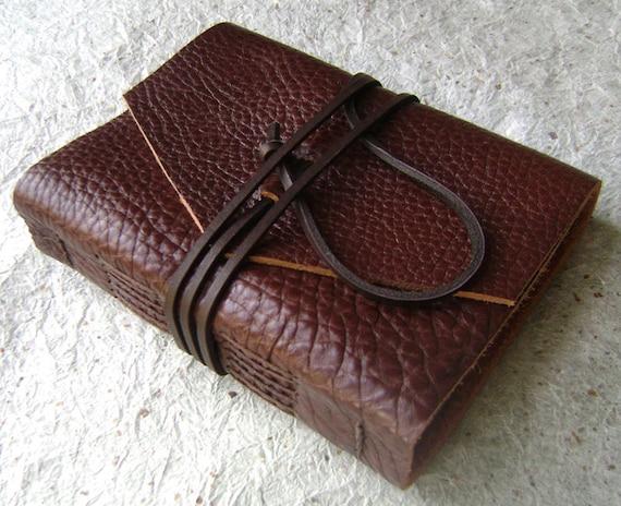 Leather Journal, Rustic Chestnut, handmade rustic journal