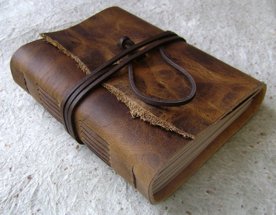 Reserved for Gina. Handmade leather journal by Dancing Grey Studio on Etsy