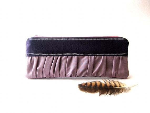 SALE 20% OFF - Prices already reduced - New Mini True Romantic Pouch in  purple / lavender fabric