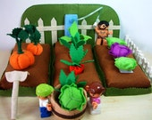 felt food,Felt Vegetables Garden--PDF Pattern via Email--F21
