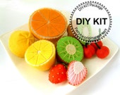 felt play food, felt fruit, DIY felt fruits Kit Package--K-V02