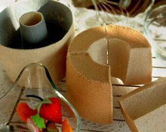 DIY felt chiffon cake and mould ---- PDF pattern and struction--T02