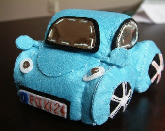 DIY Felt Beetle(VW bug)--PDF Pattern and instructions via Email--T20