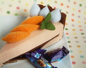 Felt purse Pattern--Cheese Cake Purse(orange and strawberry)--PDF via Email-P05