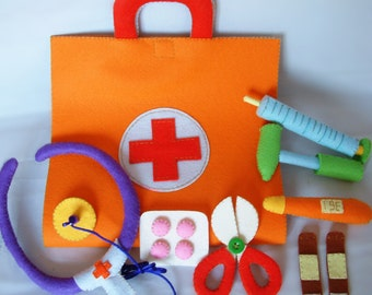 New-DIY Felt Medical bag, Doctor Set-PDF Pattern via Email-T22