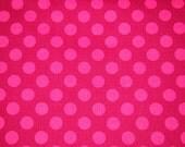 SALE - Michael Miller - Raspberry Ta Dot 1 yard 12 inches