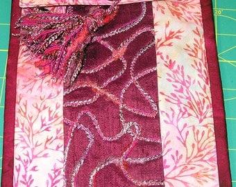 Embellished Silk and Cotton Evening Shoulder Bag