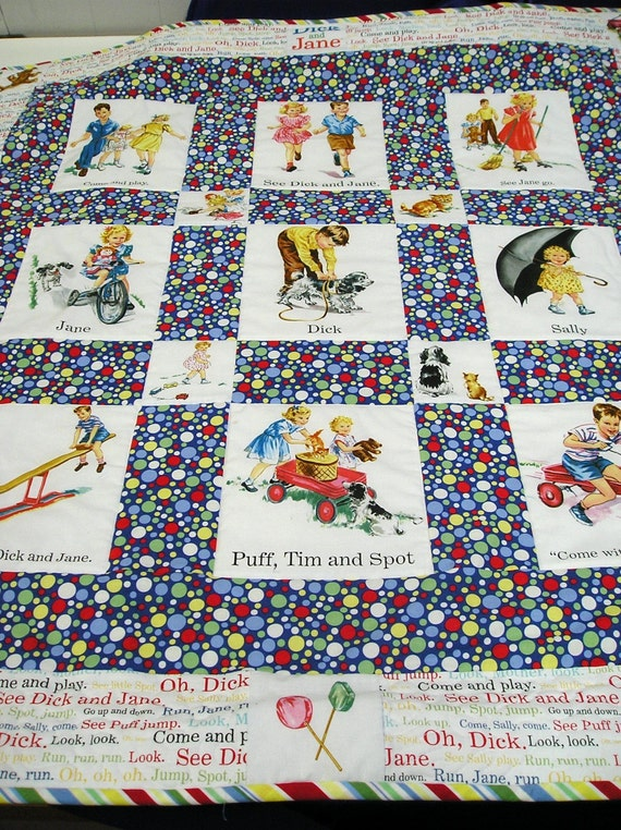 See dick and jane quilt fabric