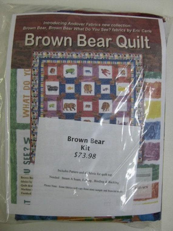Eric Carle Brown Bear Quilt Kit