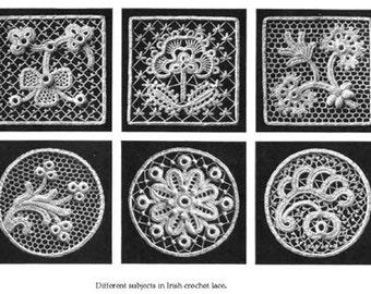 1910 DMC Irish Crochet Victorian Pattern 4 eBooks