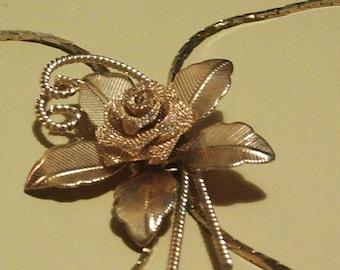 Brass Rose Slide Necklace......