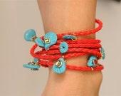 good luck charm, good luck, good luck gift, good luck bracelet, leather wrap bracelet