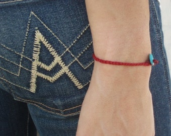 Red Bracelet Hamsa Charm Unisex kabbala red string Luck Amulet turquoise Cameo By Red Bracelet on Etsy