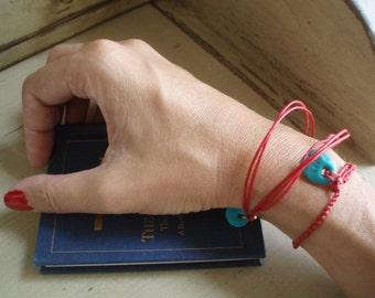 Hamsa bracelet Red bracelet pair turquoise eye lucky charm hamsa cameo By RedBracelet on Etsy