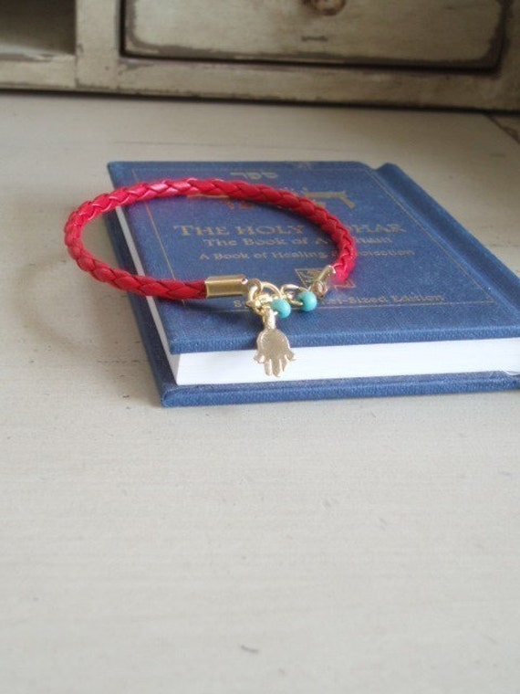 Madonna Kabbala Red String Hamsa Good Luck Evil eye protection Double turquoise eyes By RedBracelet on ETSY