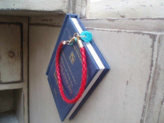 Turquoise hamsa Red Bracelet couple of evil eye beads by RedBracelet on ETSY