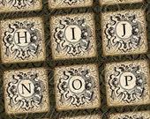 Alphabeautiful Alphabet ABCs Letters Lettres Tiles - Printable INSTANT DOWNLOAD 1x1 Inch Square Tiles Digital JPG Collage Sheet