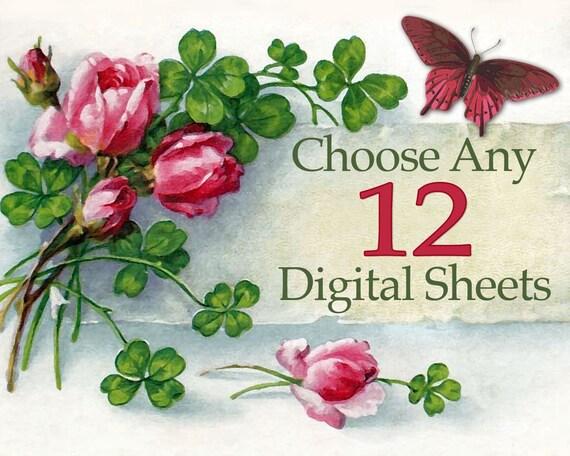 Choose Any 12 Digital Sheets (only 2.84 per sheet)