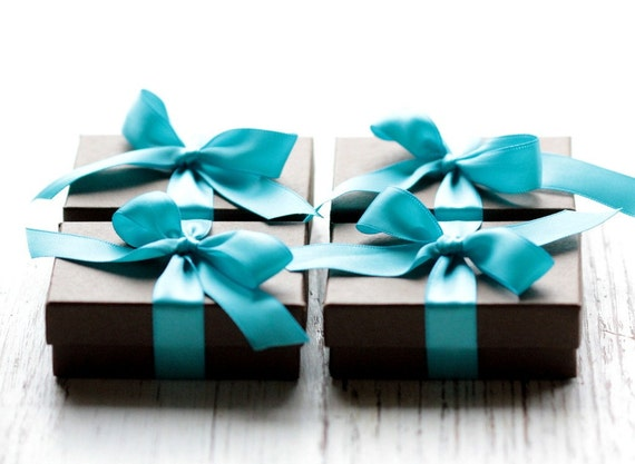 Bridesmaid Gift Set Earrings - Four Pairs Sterling Silver Petals Hoop Earrings - Modern Bride Wedding Party