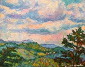 Another Rocky Knob Art 8x10 Impressionist mountain landscape painting by KENDALL KESSLER