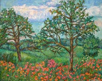 Kraft Avenue, Blacksburg Art 20x16 Impressionist Landscape Oil by Award Winner Kendall Kessler