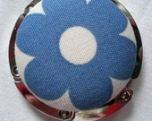 Purse Hanger or Bag Hook - Blue Flower