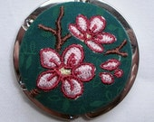 Embroidered Purse Hanger or Bag Hook - Cherry Blossom