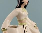 Vintage 1950s Vase Statue Tropical Island Hawaiian Dita Von Teese Pin Up Girl Copacabana