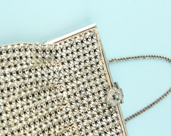 Vintage Rhinestone Handbag Purse 1930s 30s Elegant Glamorous Formal Cocktail Evening