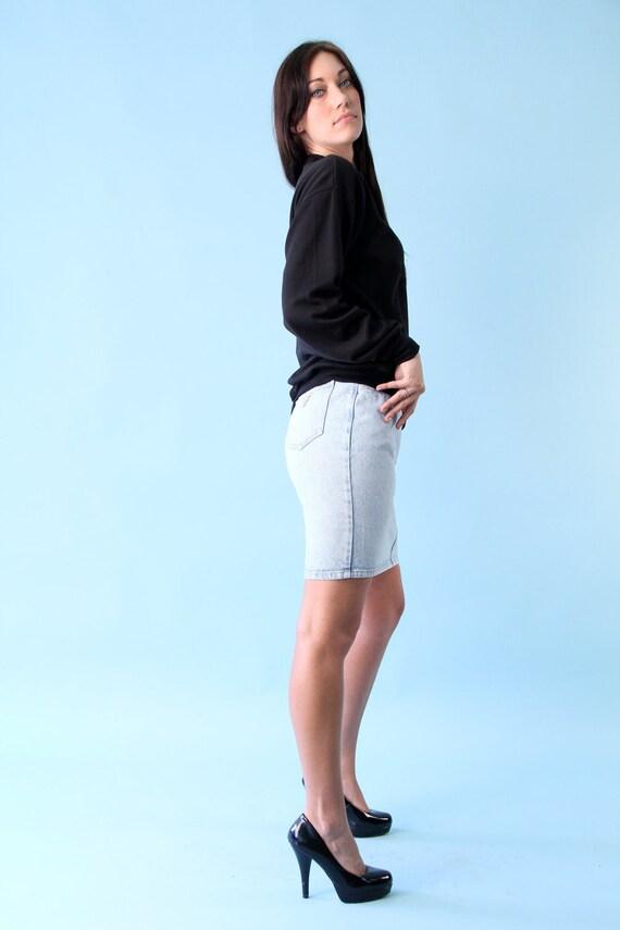 Vintage Guess Denim Jean Mini Skirt Acid Wash Small S