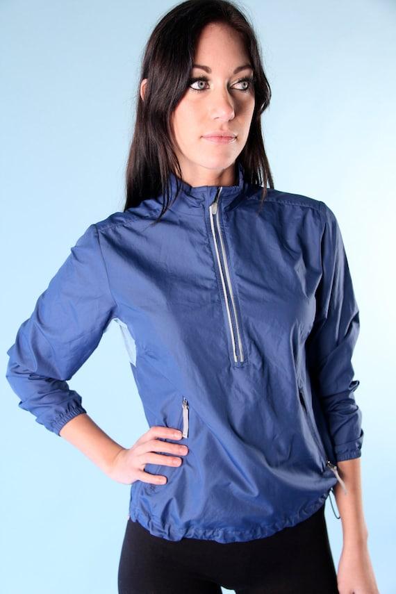 Vintage Retro Nike Windbreaker Running Jogging Blue Pullover Sportswear size extra small xs 1990s