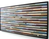 Abstract Painting on Wood, Wall Sculpture, Mosaic Wall Art