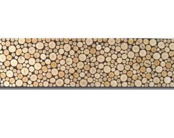 Wood Art - Panoramic Wall Art - Tree Rings - Wood Slices
