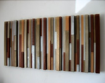 Metallic Painting - Wood Art - Wood Wall Art - Sculpture - Abstract Art