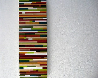 Modern Rustic Art, Wood Painting, Wood Wall Sculpture