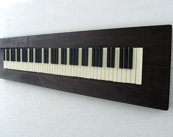 Rustic Wood Sculpture - Piano Keys - 12x48 - Made-To-Order