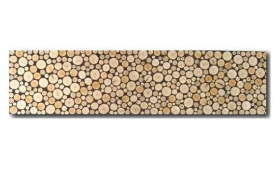Wood Art - Panoramic Wall Art - Tree Rings - Wood Slices