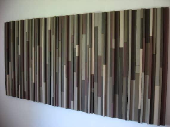 Modern Wood Sculpture Wall Art Headboard
