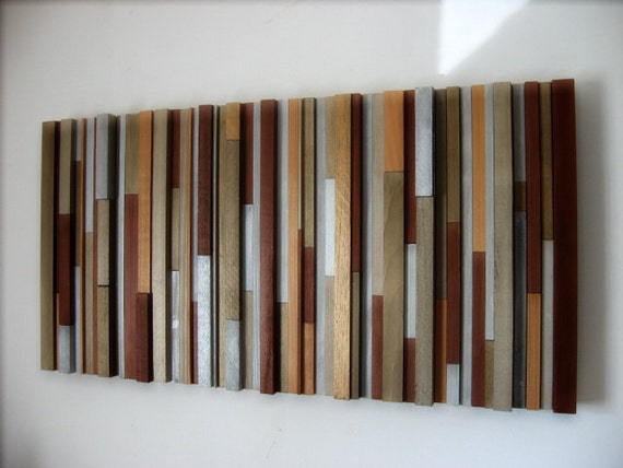 Modern King Headboard  - Wood Sculpture