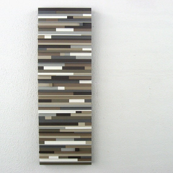 Abstract Modern Art - Wood Sculpture in Browns and Neutrals