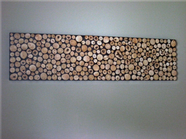 wood slice wall art sculpture